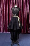 Hi-Low Lace Beading Black Short Cocktail Prom Evening Dress