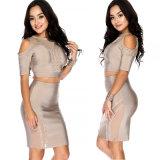 Shoulder Evening Dress with Short Sleeve Dress
