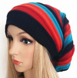 European Popular Cap/Have Stripes Beanie /Have Stripes Women Like Knitting Hat Sports Promotional Caps and Urban Fashion Hat