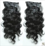 Indian Remy Virgin Human Hair Clips in/on Weaving Weavy/Weft Human Hair Extension