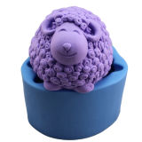 R0843 Silicone Soap Mold Moulds 3D Sheep Soap Mould Craft Candle Mold