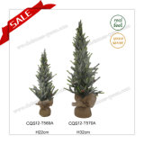 H22-32cm Wholesale New Design Plastic Artificial Mini Snowing Christmas Tree