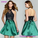 New Arrival Sexy Party Evening Dresses A-Line Appliques Beading Gown V-Neck Dress with Zipper Free