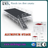 CE Approved Grey Color Aluminum Stage with Ant-Slip Industrial Platform