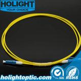 Fiber Optic Patchcord LC to LC Simplex Singlemode 2.0mm Yellow Short Boot
