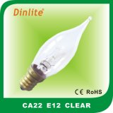 Candle shape CA22 Flame incandescent bulb