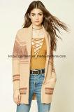 Latest Fashion Striped Women Knit Sweater Cardigan (W18-232)