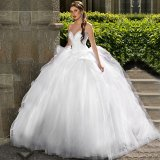 Sweetheart Bridal Ball Gowns Lace Bodice Wedding Dress Fs20179
