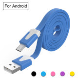 1M Durable Flat Noodle Charger Cable/Micro USB Cable/Data Sync Charging Cable for Android,Samsung,HTC,LG