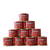 High Quality Canned Tin Tomato Paste with Ginny Brand