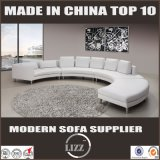New Style Office Round Shape Leather Sofa (LZ-189)