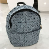 Blue Small Size Rhombic Geometry PU Backpack Bag (A097-9)