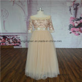 Middle Sleeve A Line Elegant Evening Dress Wedding Dress