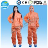Disposable Orange Coverall, PP Coverall, Chemical Jumpsuit