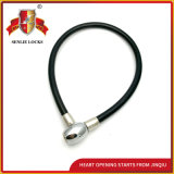 Jq8223 Three Color Pvu Security Steel Cable Lock Bicycle Lock