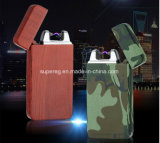 Classic Pattern Pulsed Arc USB Charging Windproof Lighters