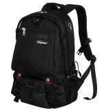 China Black Nylon Lightweight Double Shoulder Laptop Backpack
