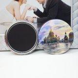 Custom Made Design Round Metal Tin Fridge Magnet, Magnetic Button Badge Sticker