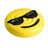 Holiday Party Funny PVC Inflatable Smile Face Island for Pool Swimming