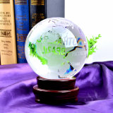 200mm Crystal Glass World Ball Earth Globe for Gift