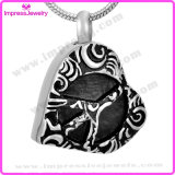 Fashion Heart Pendant Necklace Ashes Keepsake Holder Cremation Jewelry Memorial Charm (IJD9689)