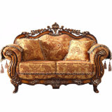 Fabric Sofa with Wooden Table for Living Room Furniture (D929)