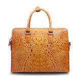 Men Genuine Leather Business Briefcase Crocodile Laptop Computer Bag