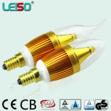 Golden Housing 90ra CREE Chips Scob LED Candle Lamp