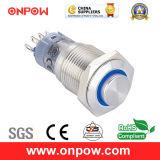 Onpow 16mm Illuminated Pushbutton Switch (LAS2GQH-11E/R/12V/S, CE, CCC, RoHS)