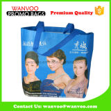 Blue Eco-Friendly PP Non Woven Advertisement Waterproof Shopping Bag