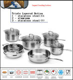 Network TV Sale Impact Bottom Stainless Steel Cookware Set
