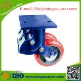 Heavy Duty Spring Twin Wheel PU Casters