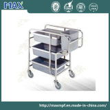 Stainless Steel Collection Trolley with Wheels