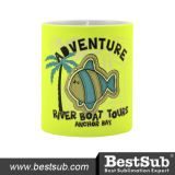 11oz Fluorescent Mug (Frosted, Light Yellow) (B11WEH)