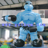 Cartoon Inflatable Muscle Man for Advertising