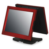 """Red&Black Double 15"""" Screen Touch POS Terminal (GS-3075)"""