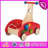 2015 Fashionable Educational Wooden Baby Stroller, Wooden Baby Imaginative Design Walker, Eco-Friendly Wooden Baby Walker W16e035