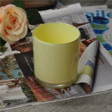 High Quality Milk Color Sprayed Candle Glass Container