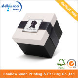 White Lid and Brown Ribbon Gift Packing Paper Box (QY150223)