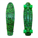 27inch PP Mini Skateboard Cruiser Complete Skateboards Banana Skateboard Green Camo-1
