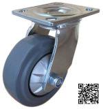 6mm Bracket Heavy Duty Spinning Elastic Rubber Caster