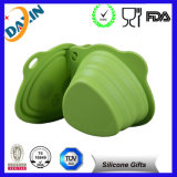 Portable Square Collapsible Foldable Silicone Pet Bowl