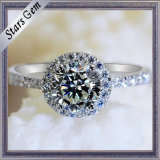 Star Cut Synthetic Diamond Fashion CZ Finger Ring Jewelry