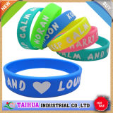 Promotion Cheap Printing Silicone Wristband (TH-566)