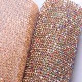 Decorative Crystal Rhinestone Sheet Hot Fix Rhinestone Mesh for Garment Accessories