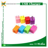 Mini USB Charger 5V 1.0A/2.1A Colorful Double USB Charger