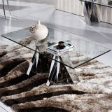 2016 Living Room Furniture Glass Square Coffee Table Set