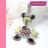 Fashion Promotional Gift Metal Keychain / Mickey and Minnie Cartoon Keyring