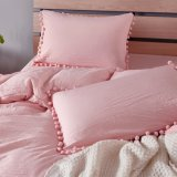 Stone Washed Flouncing Microfiber Quilt Cover Bedding