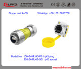 High Quality Metal RJ45 Waterproof Connector for Harsh Environment